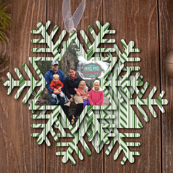 photo Christmas card, custom shape Christmas card, cut out holiday card, Happy New Year, photo holiday card, die cut Christmas card, PO005