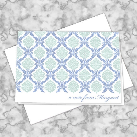thank you cards, personalized notecards, periwinkle thank you cards