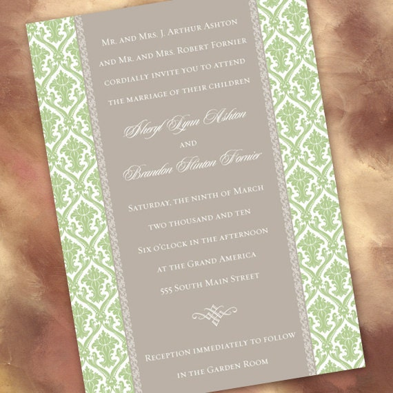 wedding invitations, wedding package, sweet pea wedding invitations, celery wedding invitations, green bridal shower invitations