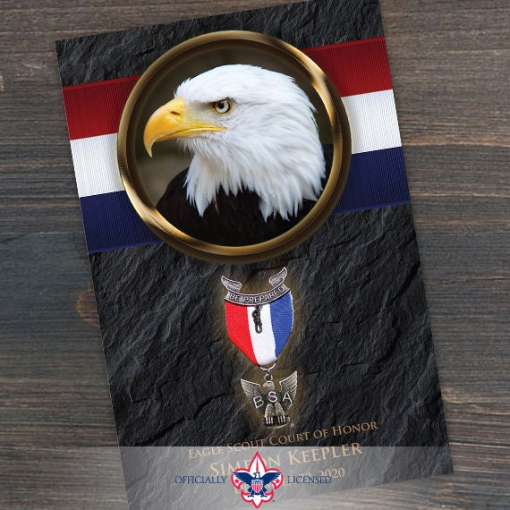 program cover, eagle scout court of honor program cover, Boy Scouts of America program, Court of Honor, BSA, BSA0303