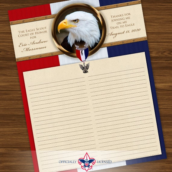 Sign-In Sheet, Eagle Scout Court of Honor, Customized, Court of Honor, BSA, BSA0405