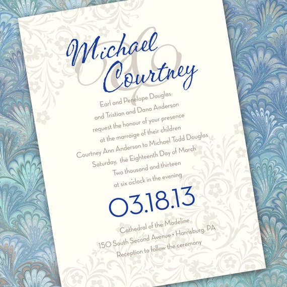 wedding invitations, silver wedding invitations, wedding package, save the date, bridal shower invitations, wedding package, IN166