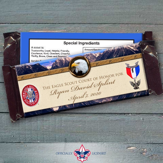 Eagle Scout candy bar wrappers, Eagle Scout Court of Honor, Hersheys chocolate bar wrappers, Court of Honor, BSA0604