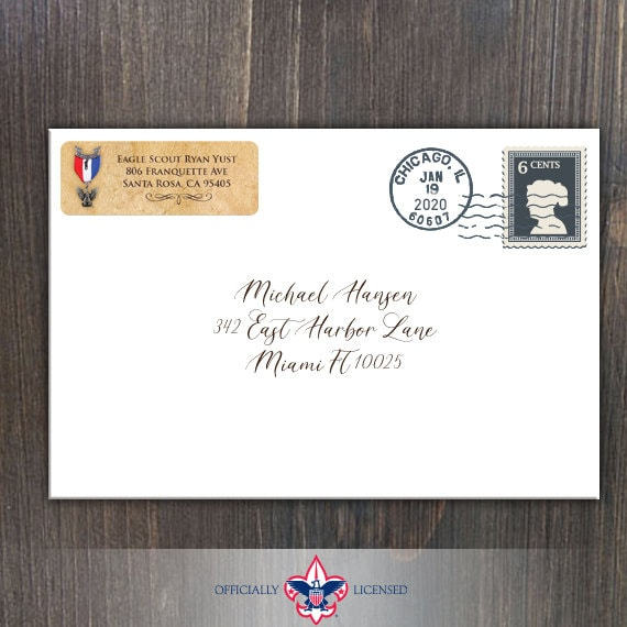 Return Address Labels, Eagle Scout, Customized, Eagle Scout Court of Honor, BSA0208