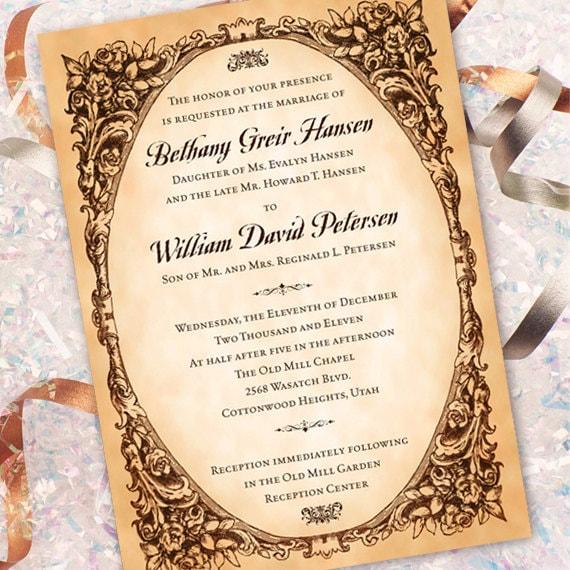 Sample Wedding Invitation Text Message: Wedding Invitations, Vintage Wedding Invitations, Classic