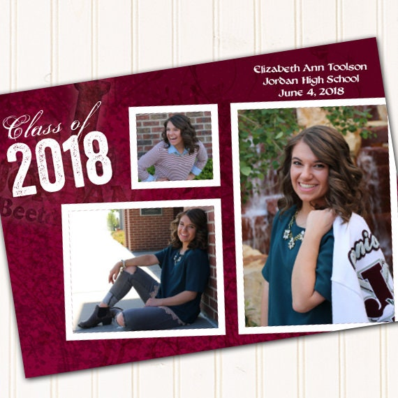 graduation invitations, maroon graduation invitations, college graduation announcements, doctorate graduation, graduation photo, IN478