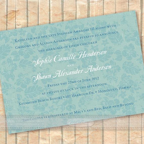 wedding invitations destination wedding wedding package aqua