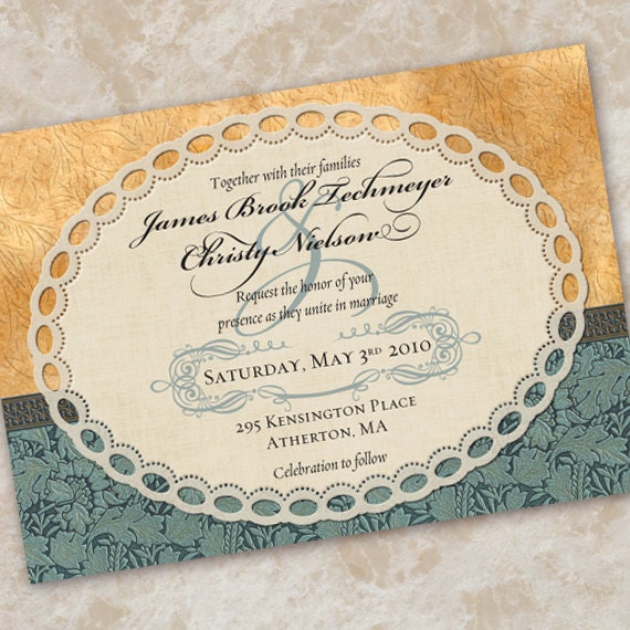 wedding invitations, yellow wedding invitations, bridal shower invitations, canary wedding invitation, vintage lace wedding, wedding package