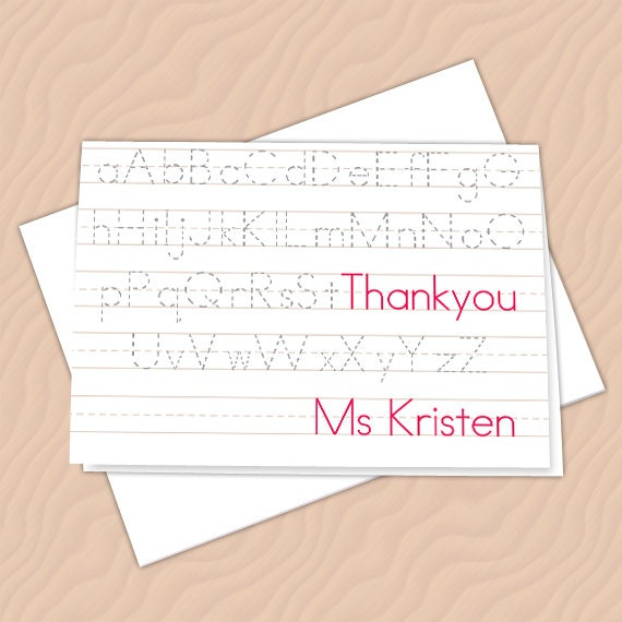 personalized notecards, thank you cards, teacher thank you cards, graduation thank you cards, 4x6 notecards, teacher appreciation, NC125