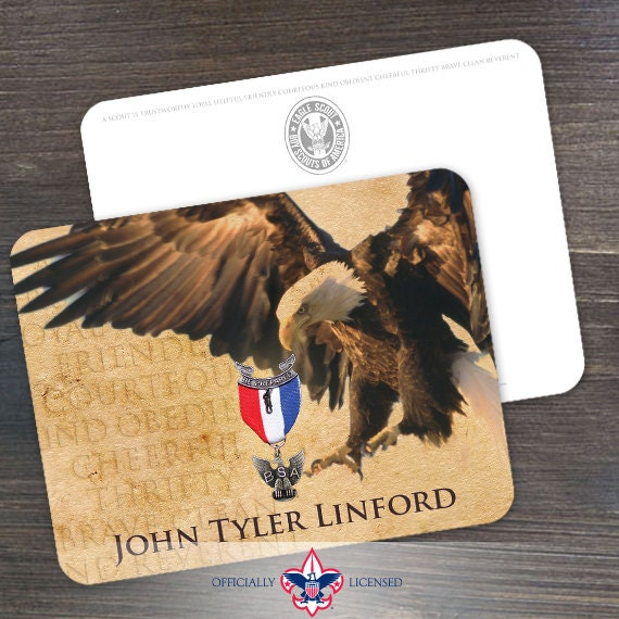 Thank You Cards, Eagle Scout, Customized, Court of Honor, BSA0212