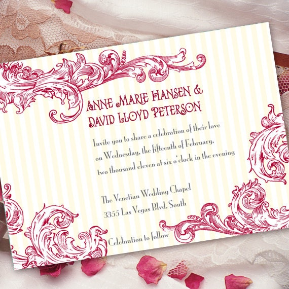 bachelorette party invitations, brial shower invitations, hot pink bridal shower invitations, wedding package,