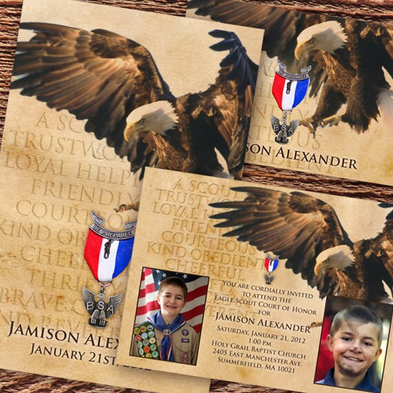 eagle scout court of honor invitation IN532 parchment Eagle Scout invitation BSA Boy Scouts of America invitation Court of Honor