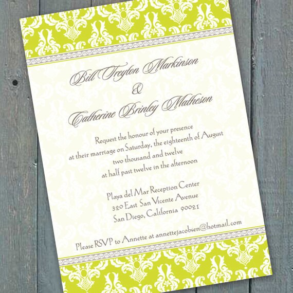 wedding invitations, wedding package, spring wedding invitations, bridal shower invitations, retirement party invitations, IN141