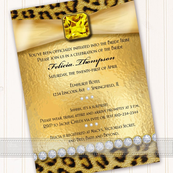 bachelorette party invitations, bride tribe, cheetah bachelorette party, bridal shower invitation, cheetah bridal shower invitation, IN533