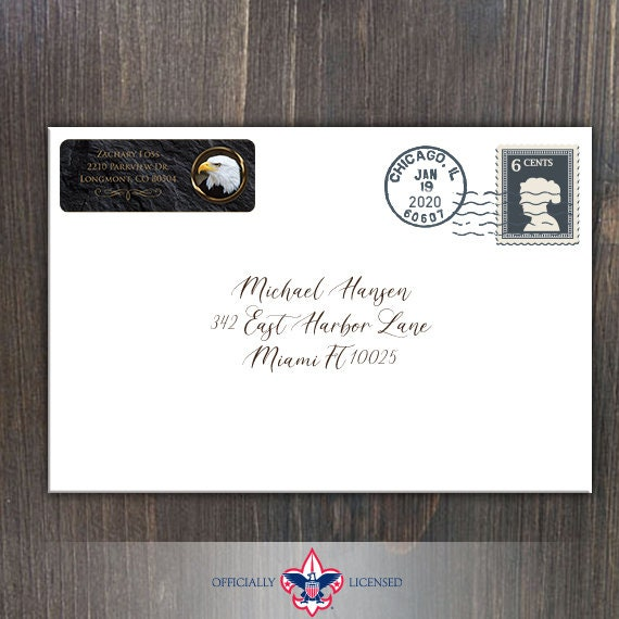Return Address Labels, Eagle Scout, Customized, Eagle Scout Court of Honor, BSA0308