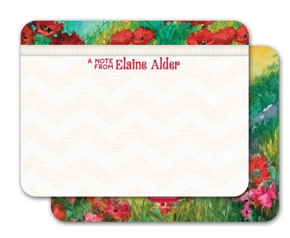 personalized notecards, notecard set, thank you cards, teacher appreciation gift, personalized stationery, Nancy Medina notecard set, NS178