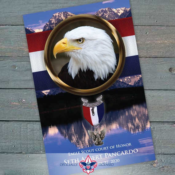 program cover, eagle scout court of honor program cover, Boy Scouts of America program, Court of Honor, BSA, BSA0603