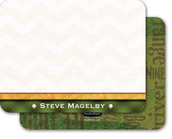 personalized notecards, notecard set, thank you cards, golf stationery, golf notecards, country club gift shop, golfing thank you card NS179