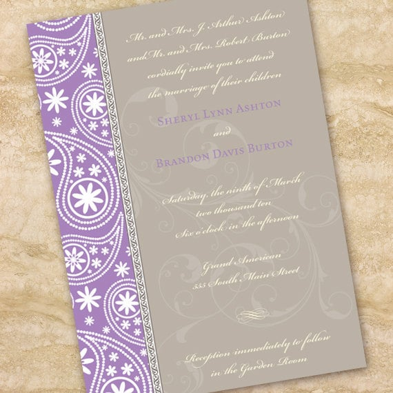bridal shower invitations, lavender bridal shower invitations, wedding showing invitations, bridal shower package, wedding package, IN149_5