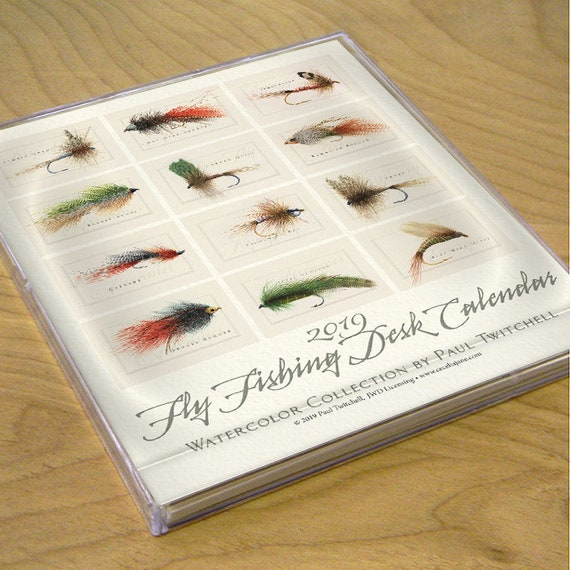 2020 desk calendar, fly fishing desk calendar, dry fly calendar, nymph calendar, Paul Twitchell fly fishing calendar