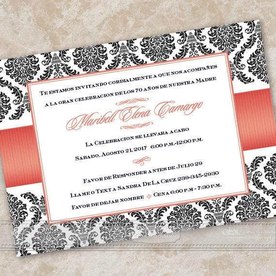 bridal shower invitations spanish bridal shower invitations spanish wedding shower invitations poppy birthday party in609