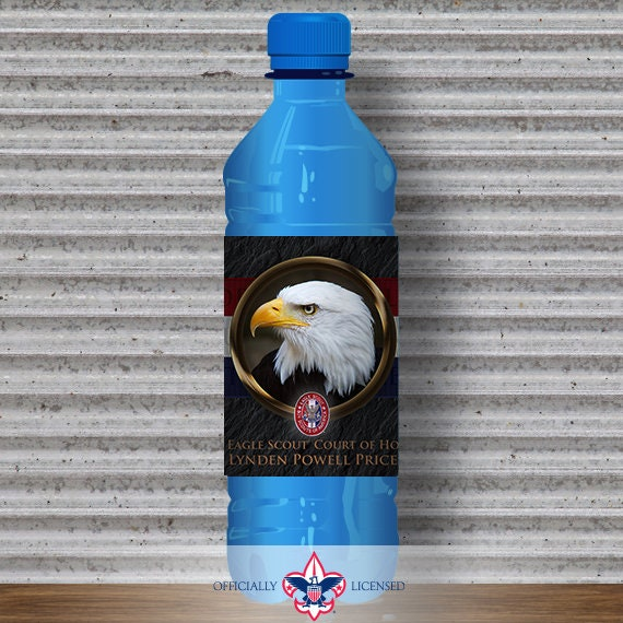 Water Bottle Wrapper, Eagle Court of Honor, Customized, BSA, BSA0306