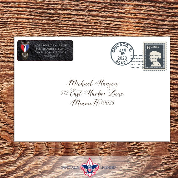 Return Address Labels, Eagle Scout, Customized, Eagle Scout Court of Honor, BSA0108