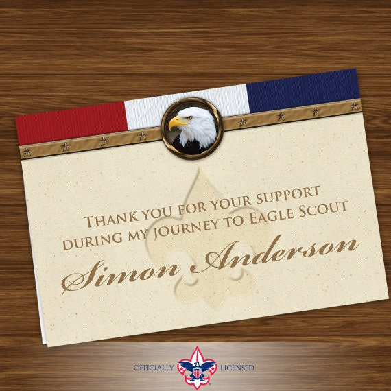 Thank You Cards, Eagle Scout, Customized, Court of Honor, BSA0402