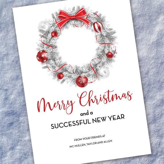 company Christmas card, firm holiday card, employee Christmas gift, Christmas card, New Years card, office Christmas card, IN200