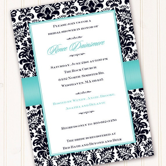 Bridal shower invitations wedding shower invitations thank you bridal shower invitations wedding shower invitations thank you cards turquoise bridal shower invitation recipe exchange in157 filmwisefo