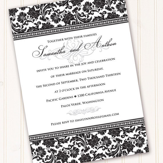 wedding invitations, formal wedding invitations, wedding invitation and rsvp, bridal shower invitations, wedding package, IN210