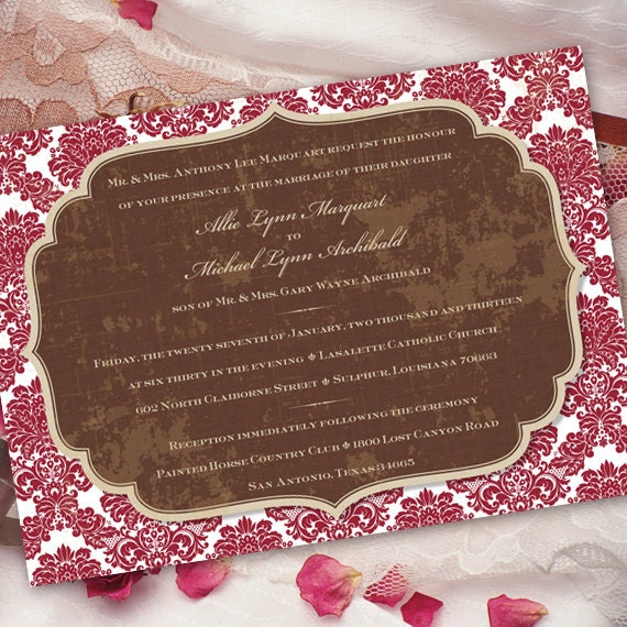 wedding invitations, cranberry wedding invitations, wedding package, bridal shower invitations, cranberry bridal shower invitations