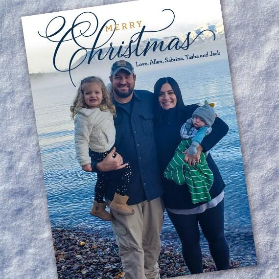 Christmas cards, holiday cards, seasonal cards, photo cards, simple Christmas cards, family Christmas card, simplicity, CC001
