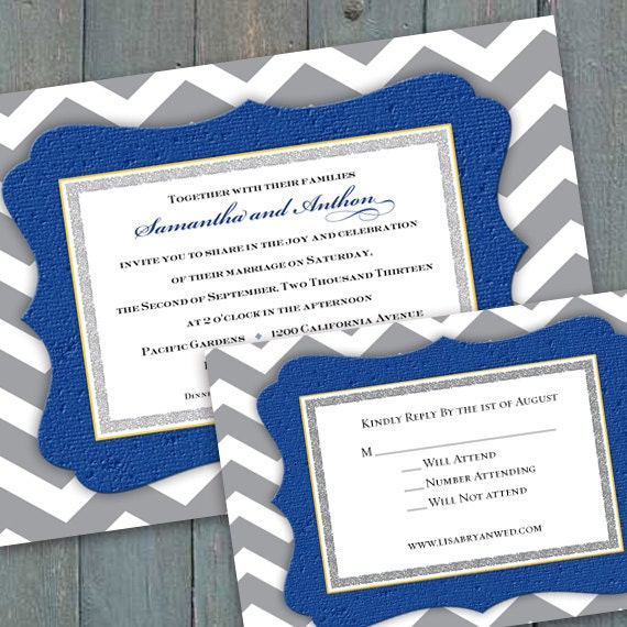 wedding invitations, wedding invitation and rsvp, wedding shower invitations, chevron wedding invitations, wedding package, IN266