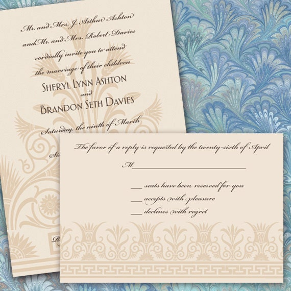 wedding invitations, elegant wedding invitations, wedding invitation and rsvp, ivory wedding invitations package, wedding package, IN274