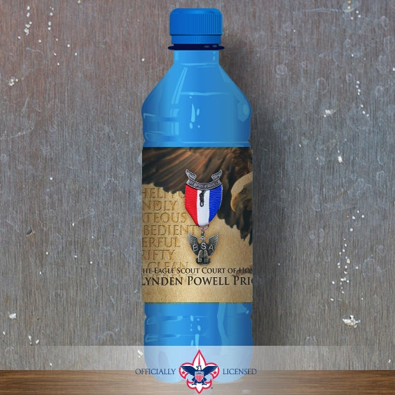 Water Bottle Wrapper, Eagle Court of Honor, Customized, BSA, BSA0206