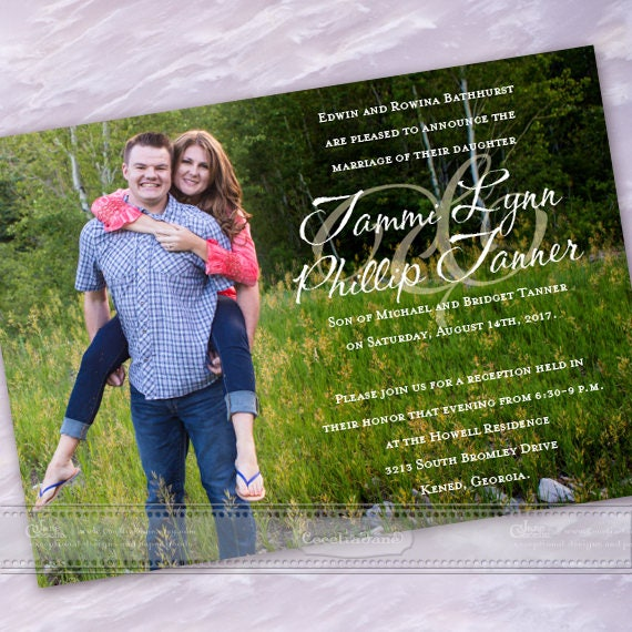 wedding invitations, wedding invitations with photos, double sided wedding invitations, photo invitation, wedding package, IN606