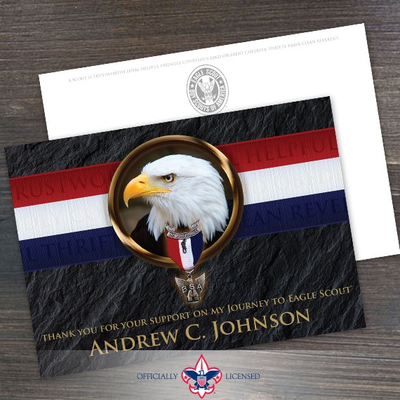 Postcard, Eagle Scout Postcard, Eagle Scout, Customized, Court of Honor, BSA313