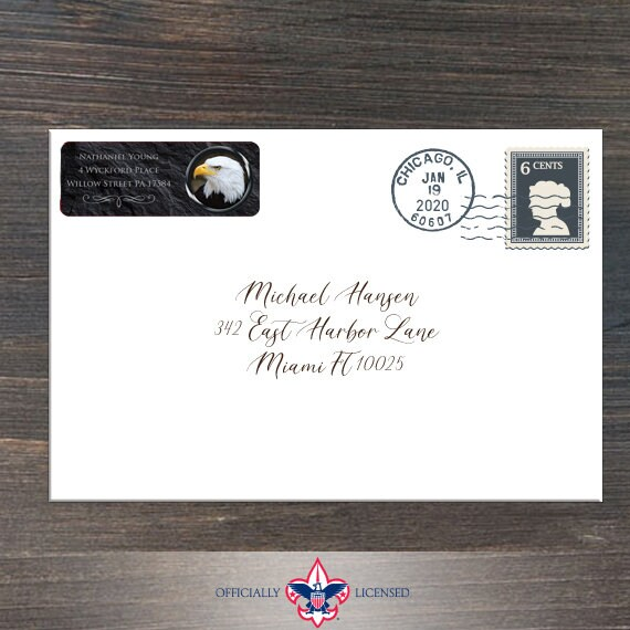 Return Address Labels, Eagle Scout, Customized, Eagle Scout Court of Honor, BSA0508