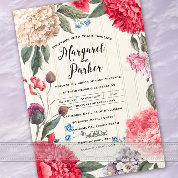wedding invitations, wedding package, wedding invitation and rsvp, floral wedding invitations, Victorian wedding invitations, IN 500
