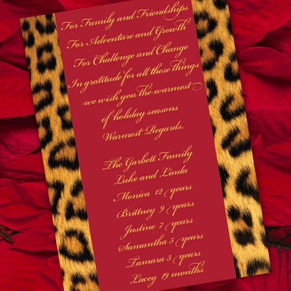 Christmas cards, animal print Christmas cards, cheetah Christmas card, gold Christmas card, cheetah Christmas, safari Christmas CC008