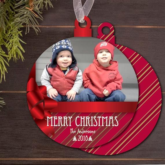 photo Christmas card, custom shape Christmas card, cut out holiday card, Happy New Year, photo holiday card, die cut Christmas card, PO007