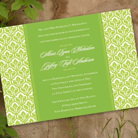 wedding invitations, lime wedding invitations, bridal shower invitations, wedding shower invitations, nurses luncheon, wedding package,IN186
