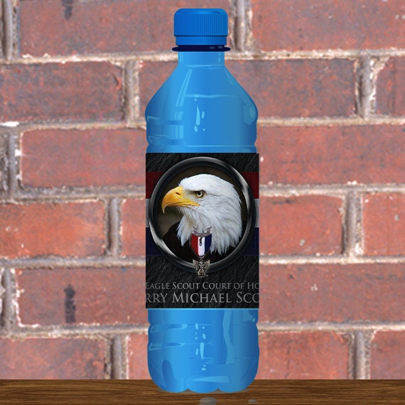 Water Bottle Wrapper, Eagle Court of Honor, Customized, BSA, BSA0506