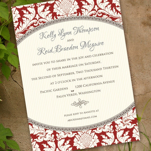 wedding invitations, wedding invitation with rsvp, wedding package, wedding invitation wording, cranberry wedding invitation, IN341