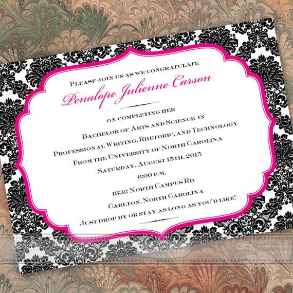 Graduation Invitations Fuchsia Graduation Announcements Hot Pink