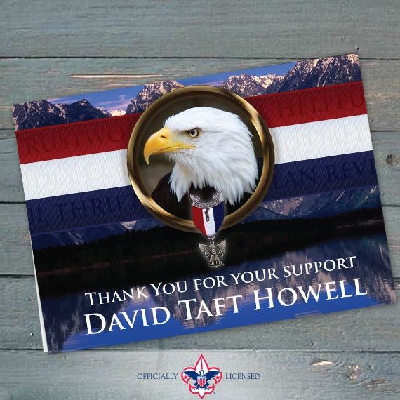 Thank You Cards, Eagle Scout, Customized, Court of Honor, BSA0602
