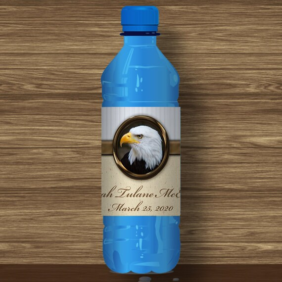 Water Bottle Wrapper, Eagle Court of Honor, Customized, BSA, BSA0406