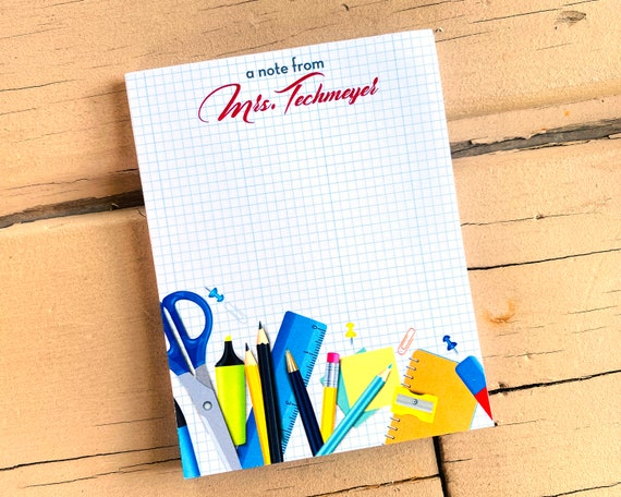 personalized notepad, teacher notepad, personalized gift for teacher, back to school gift, teacher appreciation gift, NP101