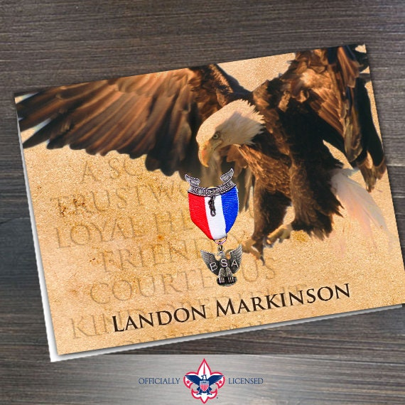 Thank You Cards, Eagle Scout, Customized, Court of Honor, BSA0202